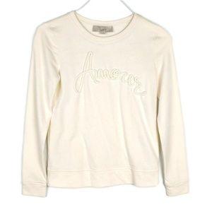 LOFT Amour Rope Long Sleeve Sweatshirt Sweater
